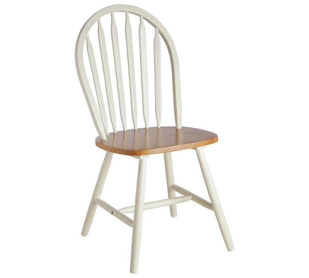Collection Kentucky Pair of Solid Wood Chairs-Two Tone