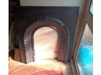 Beautiful cast iron Victorian fireplace