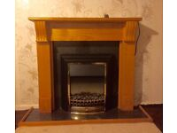 Electric Fire & Wooden Surround
