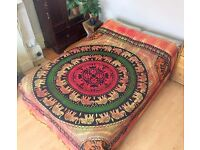 Indian Bedspread Bedding Throws Bed Wall Tapestry Wall Hanging Elephant Hippie