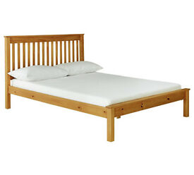 Aspley Small Double Bed Frame - Oak Stain (NEW)