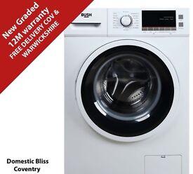 ** SALE BUSH WMNSX714W 7KG 1400 Spin Washing Machine RRP 266