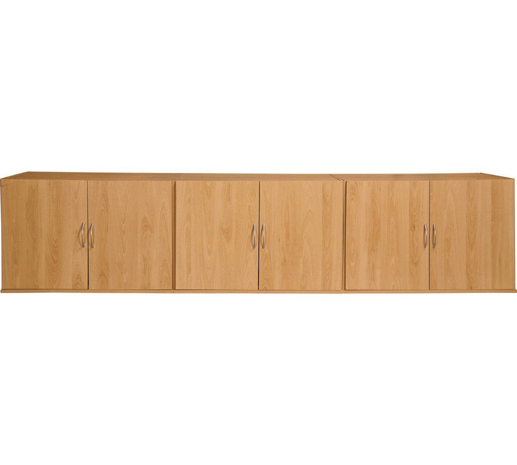 Collection Cheval Overbed Cupboards - Beech Effect