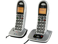 BT Big Button 4000 Cordless Twin Telephones.