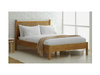 HOME Adalia Small Double Bed Frame - Oak Stain