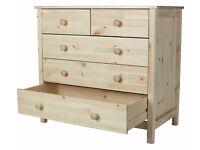 Scandinavia 3+2 Drawer Chest - Pine