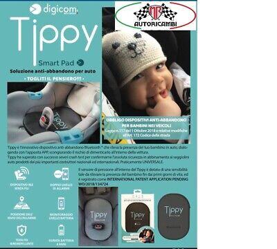 TIPPY DISPOSITIVO ANTI ABBANDONO DIGICOM NEONATO BIMBI SEGGIOLIN SmartPad 8E4610