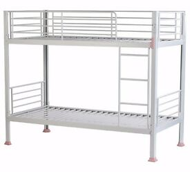 Boltzero Metal Single Bunk Bed Frame - White (NEW)