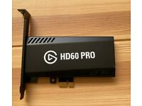 Elgato HD60 Pro Capture Card, 1080p 60 Capture, PCIe, Low-Latency, PS5, PS4, Xbox 1/X/S