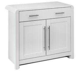 Ex-display Elford 2 Door 1 Drawer Sideboard - White