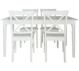 Collection Margo Dining Table & 4 Chairs - White