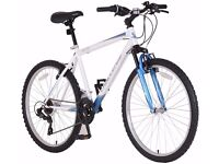 Challenge Spectre Mountain Bike. RRP £99.99. 6 months old. Steel frame. 18 gears. Front suspension.