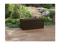 Keter Peyton Wood Effect Garden Storage Bench-Brown 512.