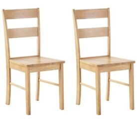 55% DISCOUNT!!! Chicago Pair Of Oak Effect Dining Chairs (2 pairs available)