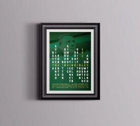 Celtic and Brendan Rodgers 'Invincibles' A3 print