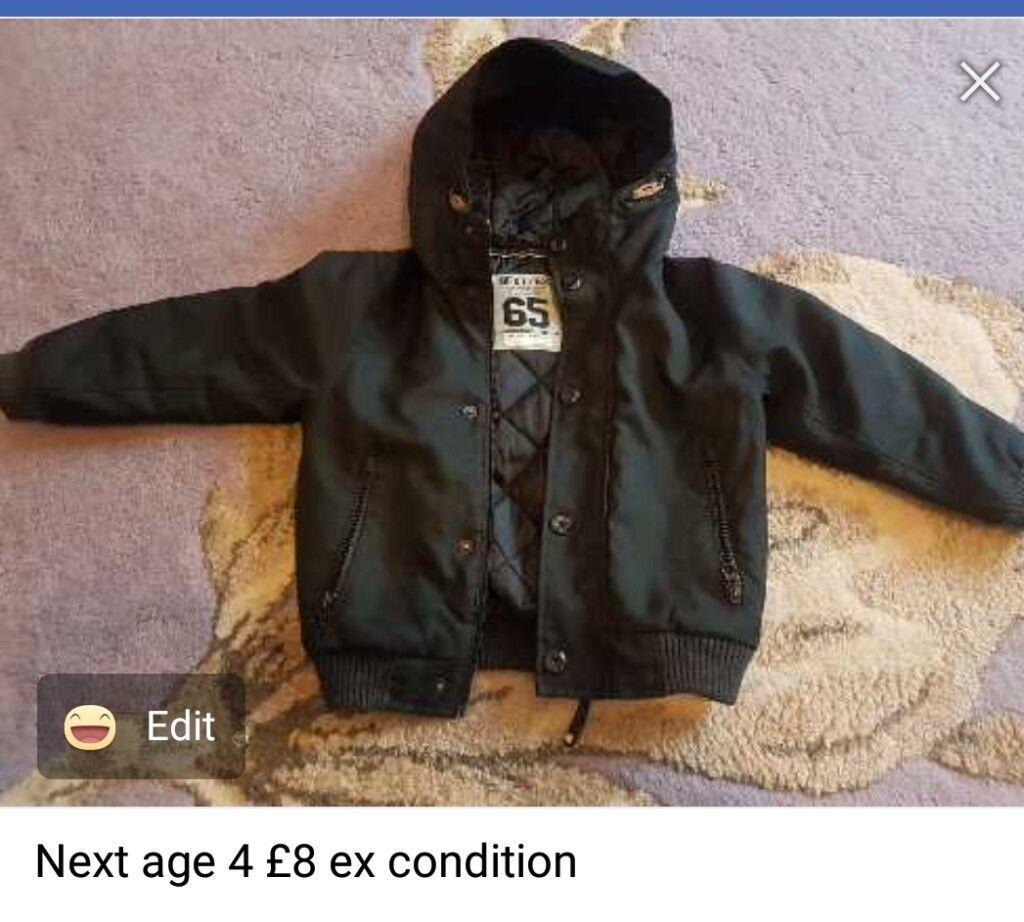 Boys black jacket age 4
