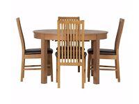 Coleridge Extendable Oval Table - 4 Paris Chairs Chocolate