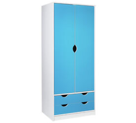 HOME New Pagnell 2 Door 2 Drawer Wardrobe - Blue