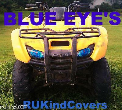 Honda TRX 420 TRX420 Rancher BLUE EYE'S Headlight Covers  NEW ITEM RUKINDCOVERS