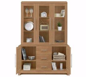 Oak Display Cabinet-Sideboard