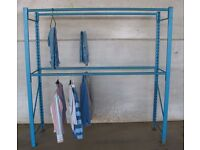 Boltless racking hanging rail clothing clothes display stand storage warehouse store room shop