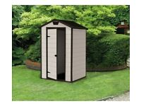 Keter Manor Plastic Garden Shed ( Beige colour )- 4 x 3 feet -- Brand New Boxed, £ 160