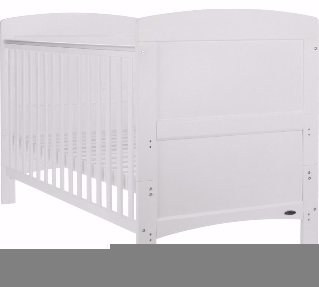 Brandnew cot bedin Granton, EdinburghGumtree - Brandnew still in the box never used cot bed in white with brandnew matress still in the wrapper bought for £210. Selling for £60 for a quick sale. Buyer picks up as I dont drive