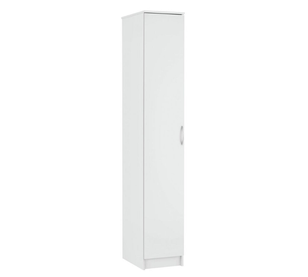 Collection Cheval Single Wardrobe - White
