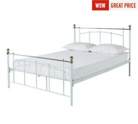 Yani Kingsize Bed Frame - White