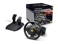 Thrustmaster Ferrari Italia Racing Wheel for Xbox 360 & PC - used once