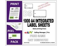eBay/Amazon integrated labels for packing. D5 / S9 size