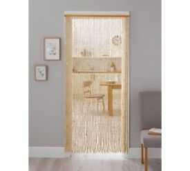 Beaded door curtain, as NEW