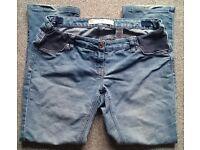 NEXT maternity jeans under the bump size 12 short