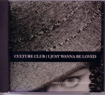 Boy George Culture Club I Just Wanna Be Loved W  Rare Edit Promo Dj Cd Single