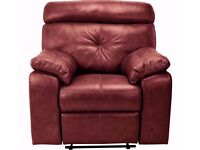 Cameron Leather Recliner Chair - Chestnut