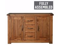 Ex Display Harvard 2 Door 3 Drawer Solid Pine Sideboard