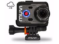 Veho Muvi K2 wi-fi Action Camera Sports Bundle + removable lcd back screen+ new 16GB micro sd card