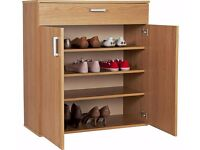 HOME Venetia Shoe Storage Cabinet - Oak Effect 593.