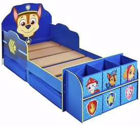 Ex display Paw Patrol Cube Toddler Bed Frame - Blue