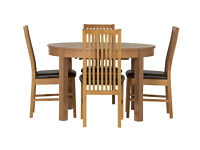 Coleridge Extendable Oval Table - 4 Paris Chairs Chocolate
