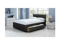 Hygena Beckett 2 Drawer Black Bed Frame - Kingsize