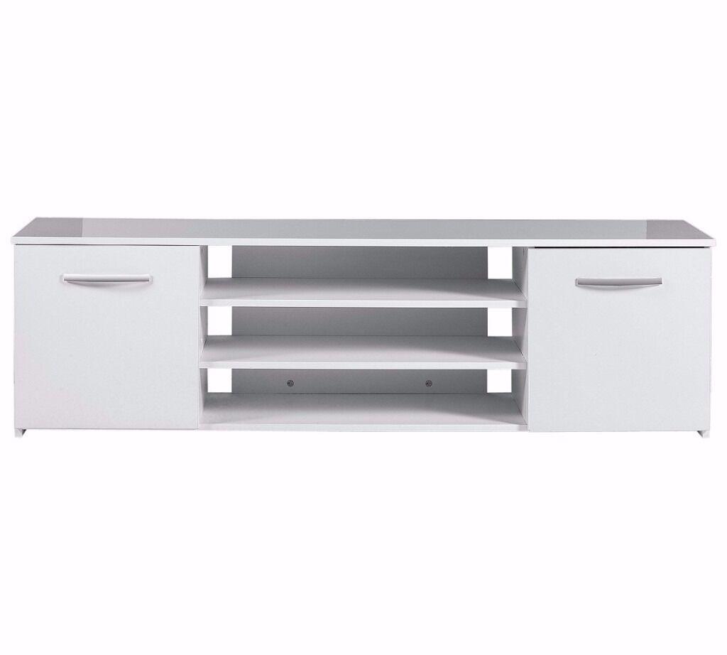 ex-display Hayward Wide 2 Door TV Unit - White