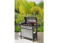 Deluxe 6 gas burner barbecue