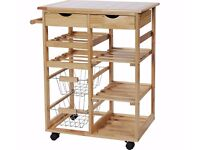 HOME Pine Tile Top Kitchen Trolley - Bought from Argos