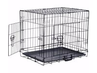 Double door Dog crate Medium Size for small or medium Dog