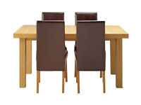 Collection Cosgrove Ext Dining Table & 4 Chairs - Oak Stain