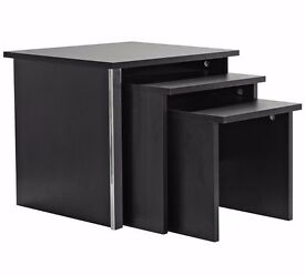 Brand new, never used - Nest of 3 Tables - Black (assembled) RRP £49.99