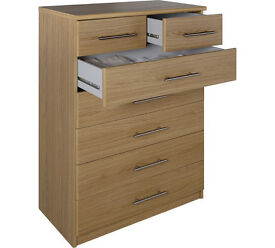 Normandy 5+2 Drawer Chest - Oak Effect (NEW)