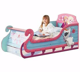 Ex display Frozen Sleigh Toddler Bed