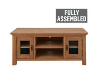 Ex display Knightsbridge Large TV Unit - Oak & Oak Veneer